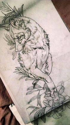 Wolf Tattoos, Animal Tattoos, Body Art Tattoos, Small Tattoos, Natur Tattoo Arm, Arm Tattoo, Sleeve Tattoos, Fox Tattoo Design, Tattoo Designs