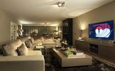 Criativo e ótimo Sofá-padrão-novo Cozy Living Spaces, Home Living Room, Living Room Designs, Living Room Decor, Contemporary Interior Design, Home Interior Design, Small Apartment Interior, Modern House Plans, Cool Rooms