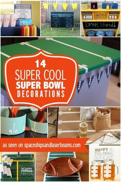 17 amazing super bowl party decorating ideas for 2017 - Super Bowl Party Decorations
