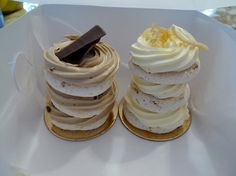 coffee dacquoise and lemon dacquoise from Sweet Obsessions shop, Vancouver French Patisserie, French Macaroons, Traditional Cakes, French Pastries, Pastry Chef, Quick Bread, Pavlova, Gluten Free Desserts, Meringue