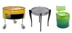 Furniture from Recycled Oil Drums