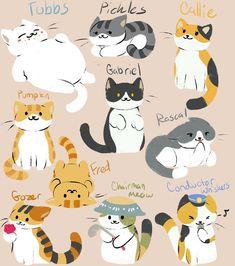 Guess who drew more kitties from Neko Atsume? =w= Neko Atsume 2 Cute Cat Drawing, Cute Drawings, Animal Drawings, I Love Cats, Cute Cats, Cat Doodle, Animal Doodles, Arte Sketchbook, Neko Atsume