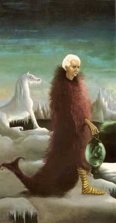 PORTRAIT OF MAX ERNST, Leonora Carrington (1917~2011, English-born Mexican artist, surrealist painter, and novelist) | Max Ernst (German-French 1891~1976), DADA-Surrealism Movement.