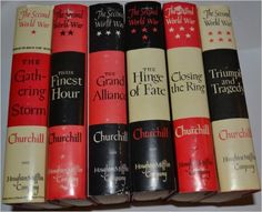 Winston S. Churchill THE SECOND WORLD WAR SERIES (6 BOOKS) (THE GATHERING STORM (1948) / THEIR FINEST HOUR (1949) / THE GRAND ALLIANCE (1950) / THE HINGE OF FATE (1950) / CLOSING THE RING (1951) / TRIUMPH AND TRAGEDY (1953)): WINSTON S. CHURCHILL: Amazon.com: Books