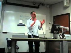 Turi Munthe gives a lecture to International News students at City University, London, 25 March 2011.