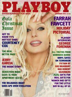 PLAYBOY December 1995   Farrah Fawcett Cover  