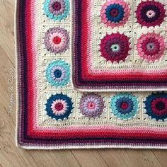 Border time  Day 9 of @lazydaisyjones #ldjcrochethookup  #crochetcolourcrush #grannysquares #sunburstgrannysquare #sunburstgrannies #grannysquaresrock #stylecraftdk #makersgonnamake #deramoments #crochetgirlgang #sfmgsswoon #colourfulcrochet #crochet #crochetaddict #whatimade #craftastherapy  #moderncrochet #crochetcreations #crocheteveryday #crochetconcupiscence #makeitsewical #crafty #crochetmakesmehappy #lovetocraft #crafttherainbow #brightcolours #pinkandpurple #crochetborder #mywee...