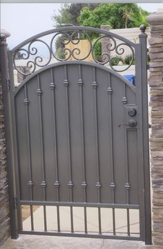 Residential Wrought Iron Privacy Gate
