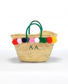 Pom Pom Small Basket - so cool from Raefeather - with your own initials