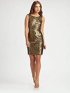 BCBGMAXAZRIA - Sequined Dress