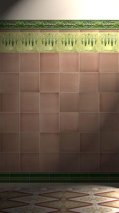 Verlegebeispiel F 149 V1, verlegebeispiel, f, 149, v1, art, nouveau, tiles, samples, wall, decorated