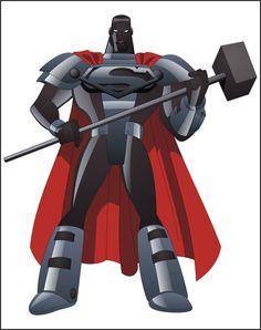 Steel 2 by on DeviantArt Comic Books Art, Comic Art, Val Zod, Red Lantern Corps, Steel Dc Comics, General Zod, Big Barda, Dc Rebirth, Superman Family