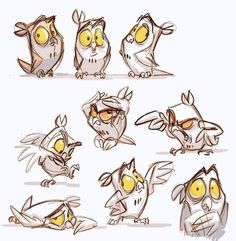 ideas for bird cartoon animation Character Design Cartoon, Drawing Cartoon Characters, Character Sketches, Character Design Animation, Character Design References, Character Drawing, Character Design Inspiration, Character Illustration, Cartoon Drawings
