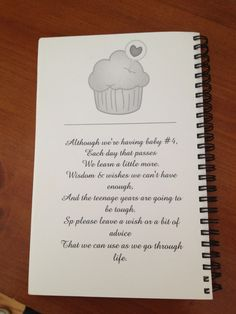 Inside cover of Wish Book for Sprinkle Shower.