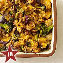 Broccoli and Sausage Casserole  Weight Watchers Recipe :  A fabulous go-to entrée for brunch or lunch. Vary the flavors with different types of sausage.  6PTS