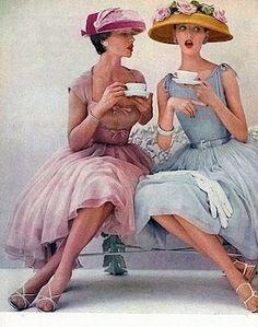 Pastels, Hats, Roses, Tea  Girly