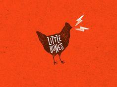 Little Bones Wings Brand Identity by One Plus One Design Chicken Brands, Chicken Logo, Chicken Shop, Soul Chicken, Logo Design, Brand Identity Design, Graphic Design Branding, Corporate Design, Packaging Design