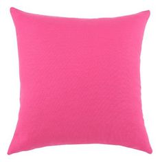 Bright pink cotton throw pillows brighten up a seating area.   $37
