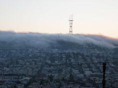 Fog creeping over Sutro Tower #SanFrancisco #SF #SFlove