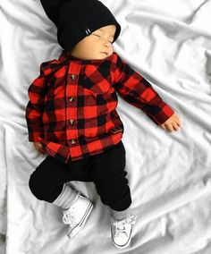 Little Lumberjack Plaid Shirt - Baby Junge Mode - Bebe Baby Outfits, Kids Outfits, Cute Boy Outfits, Little Boy Outfits, Winter Outfits, Dress Winter, Newborn Outfits, Winter Dresses, Summer Outfits