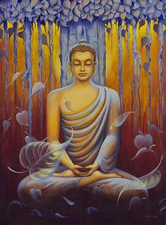 Buddha meditation Art Print by Yuliya Glavnaya Buddha Kunst, Art Buddha, Buddha Artwork, Buddha Zen, Buddha Buddhism, Buddhist Art, Buddha Meditation, Guided Meditation, Meditation Music