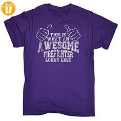 123t Herren T-Shirt, Slogan Violett Violett - Shirts mit spruch (*Partner-Link)
