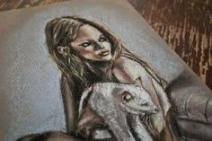 Lady with a cat detail 2 by dozhdi