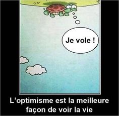 ''I am Flying'' Optimism is the best way to see life:) Citation French quote.