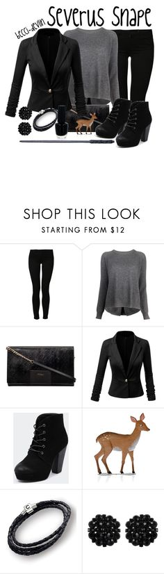 """""""Severus Snape"""" by lovelylittledisney ❤ liked on Polyvore featuring Noisy May, 360 Sweater, Therapy, Buccellati, Chamilia, OPI and Roman"""