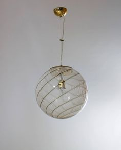 Seguso murano glass pendant light murano lights pinterest italian murano glass sphere attributed to venini circa 1960s aloadofball Images