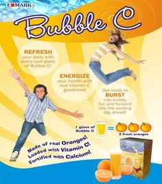 Edmark Bubble C - Loaded With Vitamin C And Calcium Vitamin C Supplement, Boost Metabolism, Blood Vessels, Vitamin E, Immune System, Collagen, Healthy Living, Bubbles, Healing