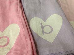 rambling reed: Monogrammed Baby Burp Cloths