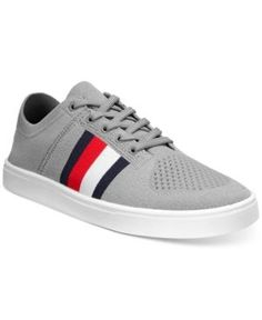 Tommy Hilfiger Men's Archer Engineered Knit Sneakers - Gray 11.5