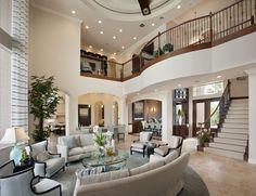 Living room in 2019 house, dream mansion, beautiful living rooms. Future House, Dream Mansion, Sweet Home, Design Case, House Goals, Home Interior Design, Luxury Interior, Room Interior, Interior Stairs