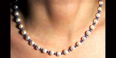 Single row pearls necklace N173