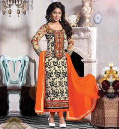 HINA KHAN BOLLYWOOD ACTRESS IN SALWAR KAMEEZ INDIAN CELEBRITY DRESSES  2015 FASHION TRENDS IN INDIA PARTY WEAR COLLECTION ONLINE SHOPPING