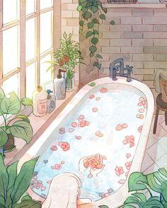 Excellent simple ideas for your inspiration Pretty Art, Cute Art, Aesthetic Art, Aesthetic Anime, Arte Copic, Bel Art, Japon Illustration, Anime Scenery Wallpaper, Cartoon Art