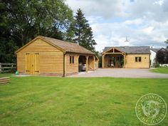 Radnor Oak - The Byton Low-Ridge- Double Garage with workshop - Garden Room- Oak Framed Garage -  Oak building