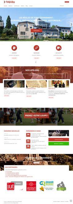 Website creation for Université du Temps Libre du Rouergue - 2014 - France - http://www.utl-rouergue.fr