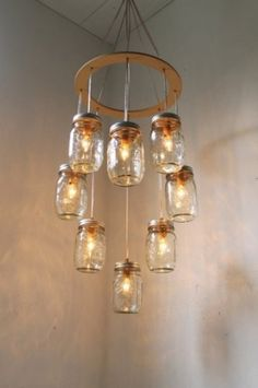 "I love the idea of making ""new"" from old.  This and the 3 jar ceiling light are both awesome."