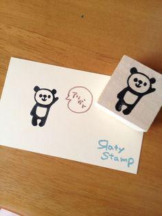 Яaty ハンドメイド消しゴムはんこはーい パンダ ¥300円 〆03月05日