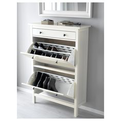 Urban Sales Ikea Nz - Buy Ikea Hemnes Shoe cabinet with 4 compartments in NewZealand. Combines with other furniture in the Hemnes series. Ikea Hemnes Shoe Cabinet, Armoire Ikea, Ikea Shoe Cupboard, Shoe Cabinet Entryway, Shoe Drawer, Ikea Shoe Storage, Shoe Rack Ikea, Hallway Shoe Storage, Home Furniture