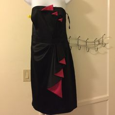 Price drop Reminiscent of the 1980s - stunning dress.  Be a knock out stand out in this strapless dress.  Zips at the back White House Black Market Dresses Prom
