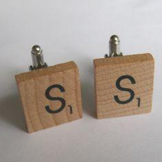 Scrabble cufflinks - The Supermums Craft Fair