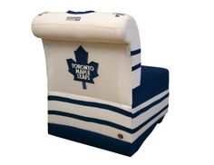 Special chair done for a charity auction of the Toronto Maple Leafs