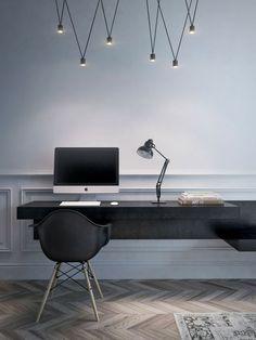 work space #workplace #desk #mac #light #chair #minimal #design #architecture #interior