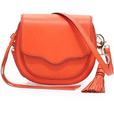 Rebecca Minkoff Suki Mini Leather Crossbody Saddle Bag ($225) ❤ liked on Polyvore featuring bags, handbags, shoulder bags, poppy red, red leather purse, mini crossbody, rebecca minkoff crossbody, leather shoulder handbags and crossbody purse