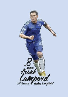 An original illustration of Frank LampardFrank Lampard is considered to be one of the most skilled midfielders in modern football.Frank is . Football Is Life, Football Art, Chelsea Football, Chelsea Fc Wallpaper, Chelsea Wallpapers, Good Soccer Players, Football Players, Chelsea Champions, Football Images