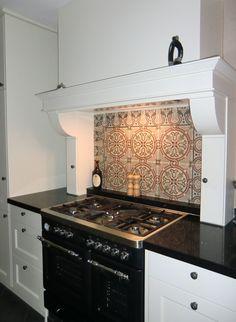 Stijlvolle landelijke keuken met borretti fornuis met dubbele oven woonkeuken pinterest - Klein keuken model ...