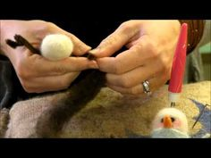 ▶ How to Needle Felt - Ornament Series: Snowman by Sarafina Fiber Art - YouTube